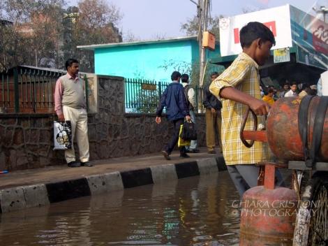 Flooded New Delhi
