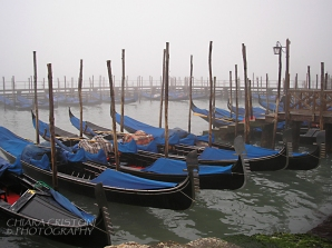 Gondolas in the mist
