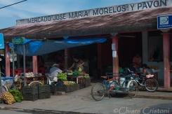 "Mexico Bacalar Yucatan ""Quintana Roo"" market stalls grocery"