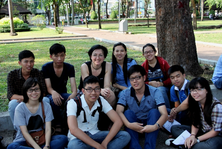 With some of the students who interviewed me