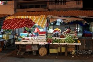 At the night market