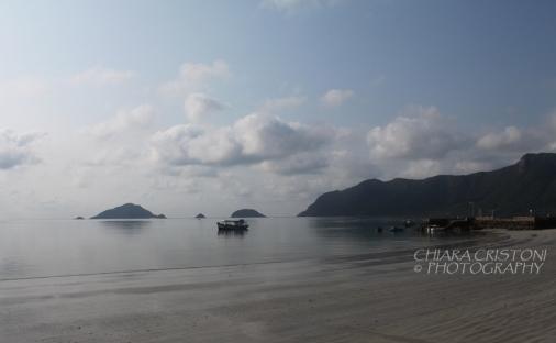 Misty morning on the island