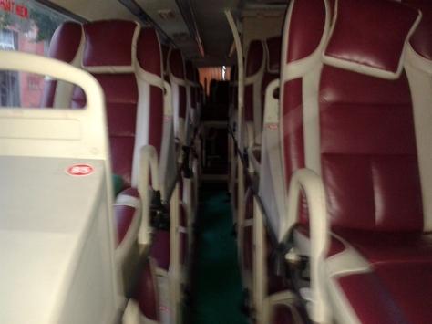 Inside the sleeper bus