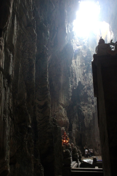 Inside the Huyen Khong Cave