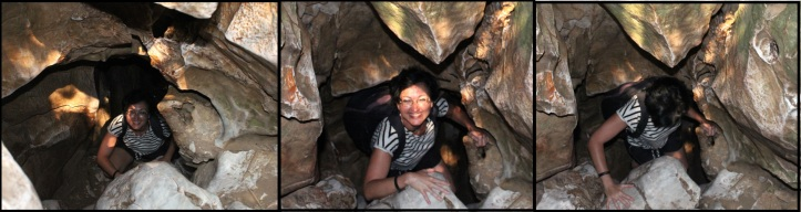 Climbing out of a vertical tunnel