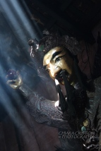 Wooden statue in the Jade Emperor pagoda