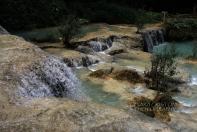 Water sliding over the rocks