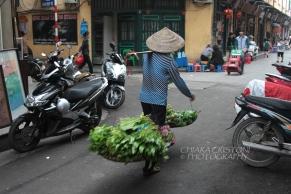 Street vendor in the Old Quarter