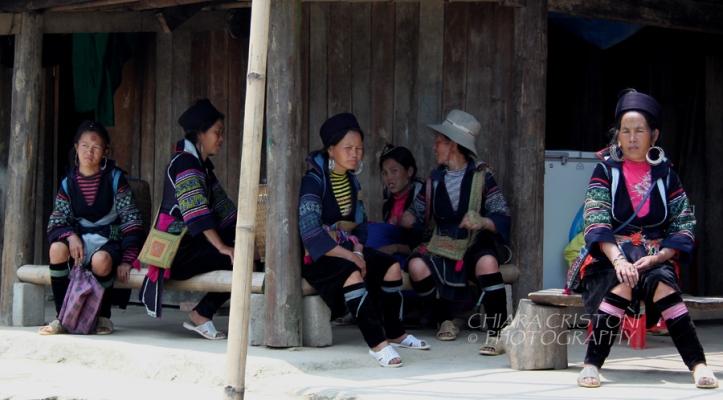 Black HMong women resting