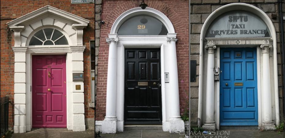 Colourful doors in Dublin Ireland