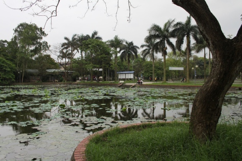One of the four lakes in the University campus