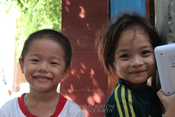 Children in Bai Xep village