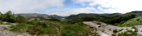 Panorama from Ladies View, Killarney