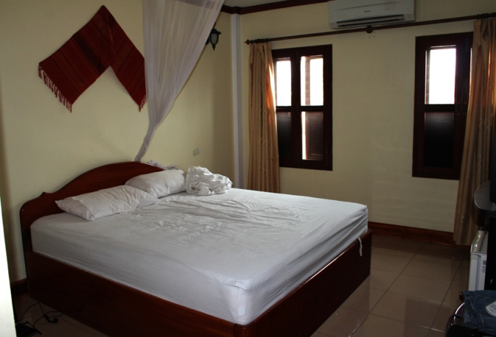 Hostel room in Luang Prabang