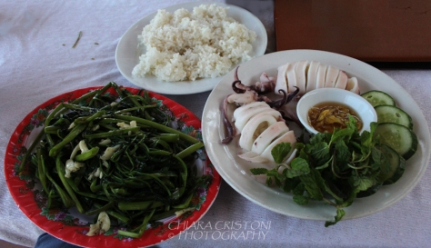 Steamed squid dish