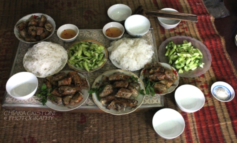 Homemade Vietnamese meal