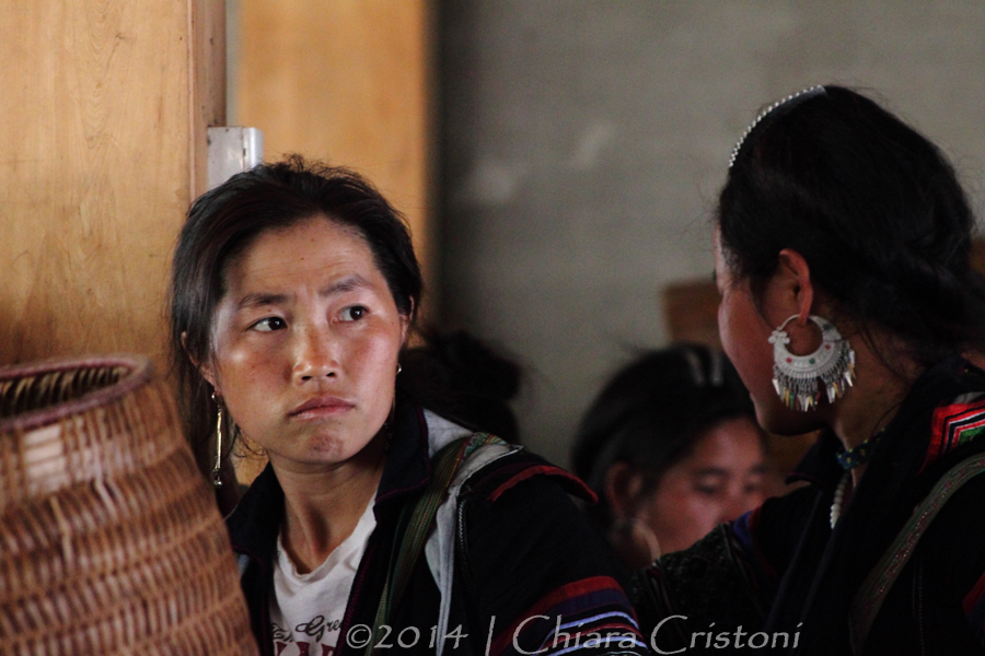 Black HMong women in Sa Pa