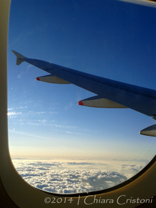 plane window scenery