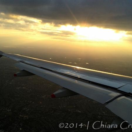 plne flight window scenery