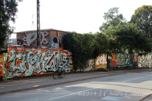 Part of the wall surrounding Christiania