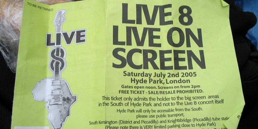 """""""Live 8"""" London """"Hyde Park"""" concert"""