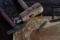 """Sri Lanka"" Kandy brassware artist tools"