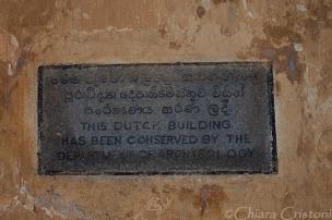 """Sri Lanka"" Galle fort sign"
