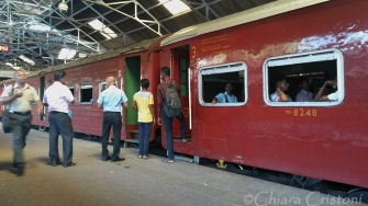 Train at Colombo Fort station