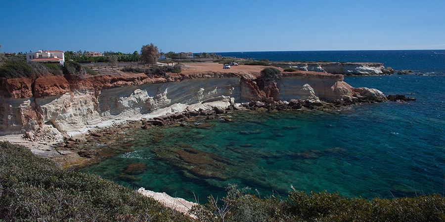 """Cyprus Akamas """"sea caves"""" coastline limestone"""