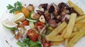 Octopus dish at one of the Latchi harbour restaurants