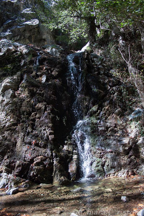 Cyprus Troodos Chantara waterfall