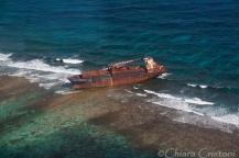 Shipwreck near the Blue HOle