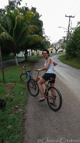 Cycling to the Cenote Azul