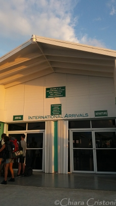 Arrival terminal in San Pedro