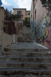 Steps up the Acropolis Hill