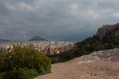 View of Lycabettus hill from the Acropolis