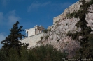 View of the Acropolis from the Acropolis museum area