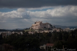 Even with grey skies, the Acropolis catches the sun rays!