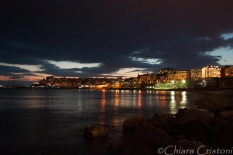 Piraeus after sunset