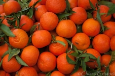 Oranges from a fruit stall