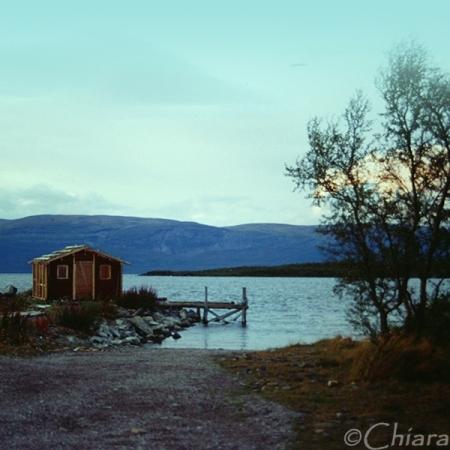 weden abisko lappland lake artic