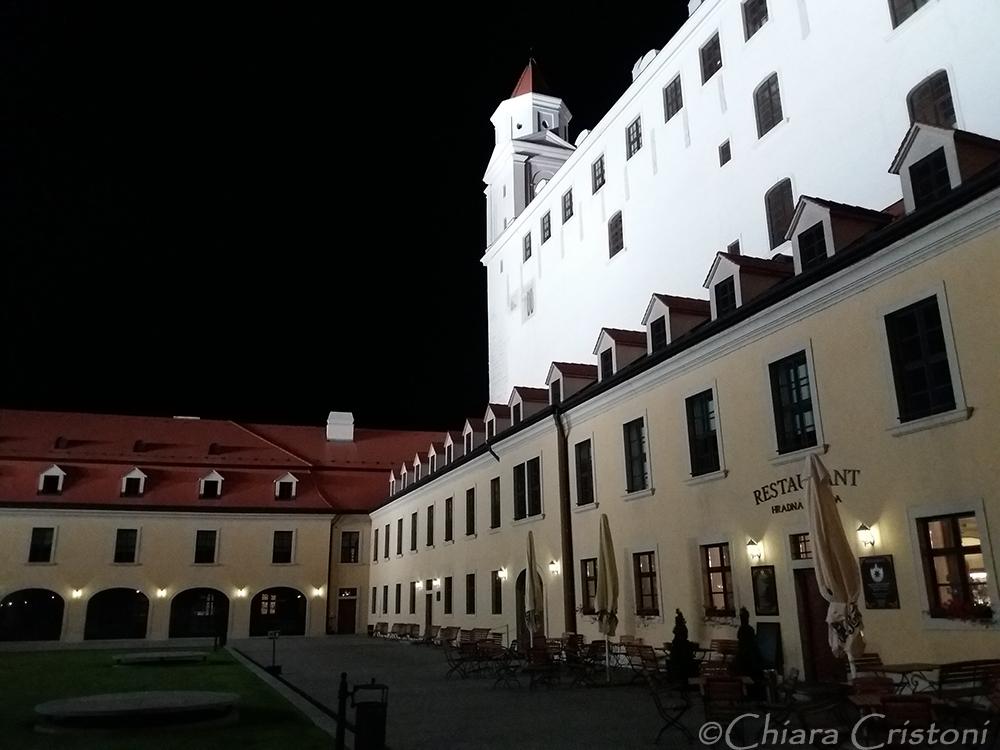 Slovakia Bratislava castle bynight