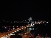 Slovakia Bratislava bridge bynight