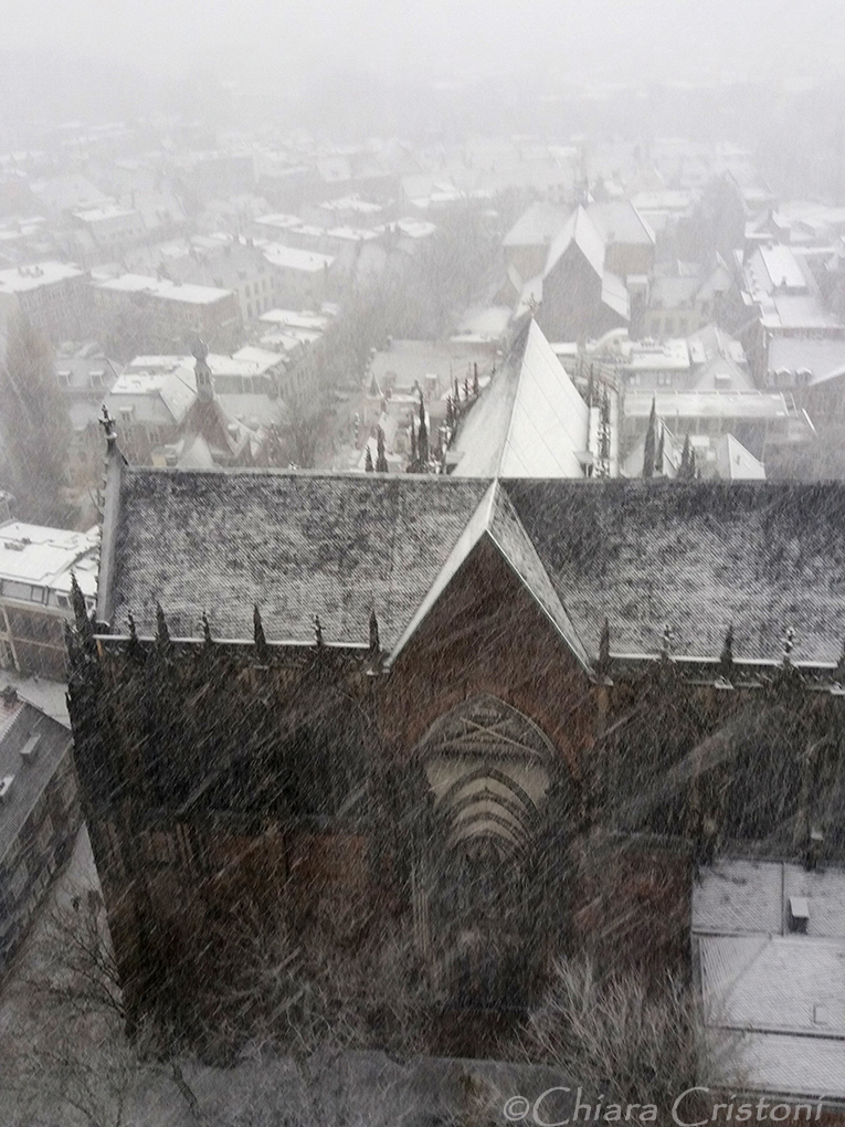 """Holland Netherlands Utrecht """"Dom Toren"""" snow"""