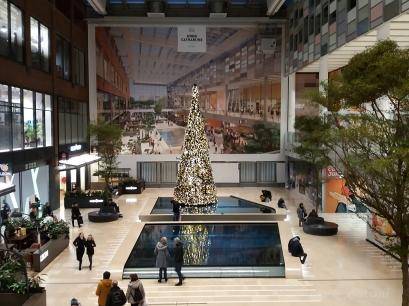 Inside the main shopping centre