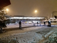 Snow at Schiphol - not too dramatic really!