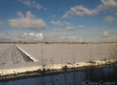 Holland Netherlands, countryside snow