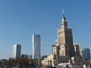 Skyline around the Palace of Culture and Science