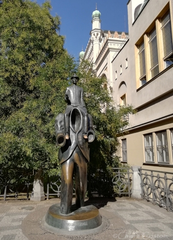 Franz Kafka's sculpture
