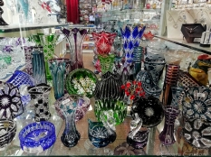Crystal glass shop in the Old Town